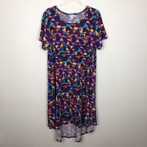 NEW LuLaRoe Carly Short Sleeve Print Dress Size XL